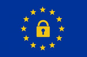 Image of Lock inside stars, sign of the European Union